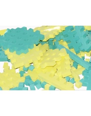 PIANKOWE PUZZLE SENSORYCZNE 230EL. green-lemon premium @U1