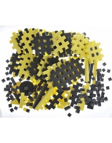 PIANKOWE PUZZLE SENSORYCZNE 230EL graphite-lemon premium @U1