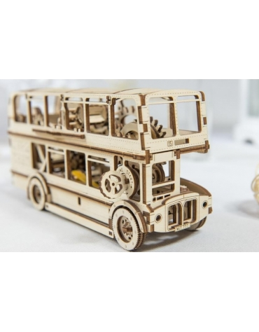 Drewniane puzzle mechaniczne 3D Wooden.City - Autobus T1