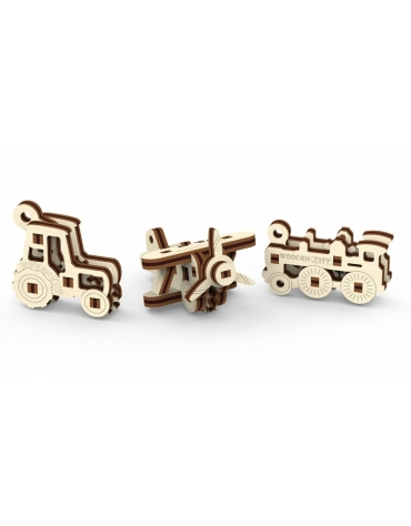 Drewniane puzzle 3D Wooden.City - Gadżety transport T1