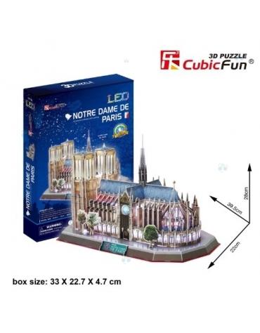 PUZZLE 3D KATEDRA NOTRE DAME 149 EL PODŚWIETLANA LED