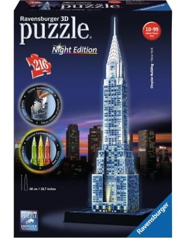 PUZZLE 3D 216 EL. CHRYSLER BUILDING NIGHT EDITION REKLAMA