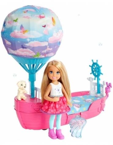 Barbie Dreamtopia Chelsea Magiczna łódka + lalka *
