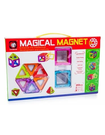 Kolorowe klocki magnetyczne MAGICAL MAGNET 20SZT @E1