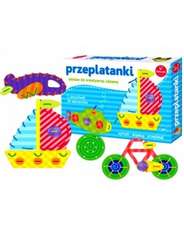 Przeplatanki Pojazdy Kreatywna Zabawa - Kukuryku