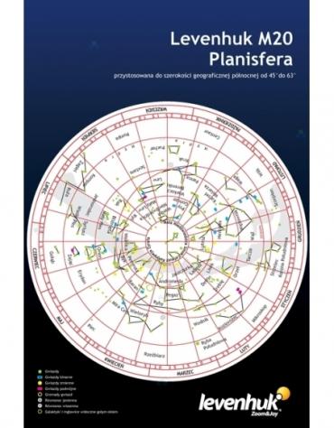 Duża planisfera Levenhuk M20 M1