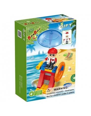 Klocki BanBao 8118 Mini Ratownik na plaży 21 el. N1