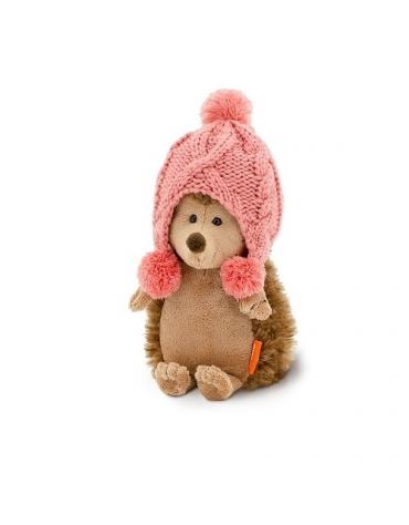 Przytulanka Jeżyk w zimowej czapce - 25cm RÓŻOWA T1