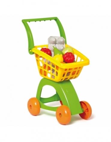 Wózek Marketowy na kółkach z zakupami S1
